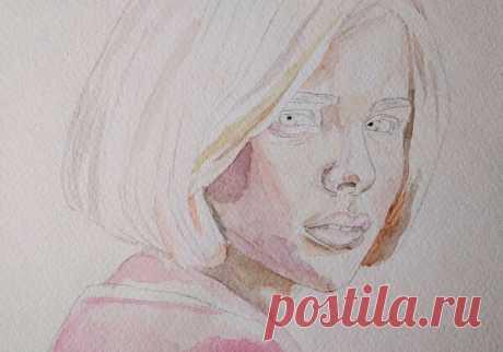 Портрет акварелью для начинающих: поэтапный урок рисования | Крылья Вдохновения