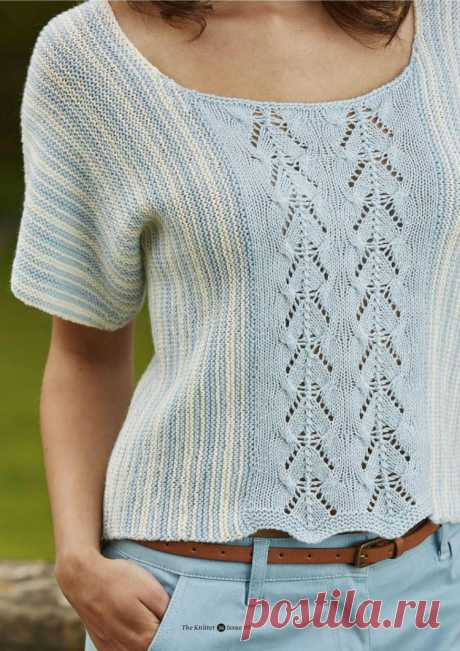 Летняя кофточка. ( The Knitter №99 2016 ).
