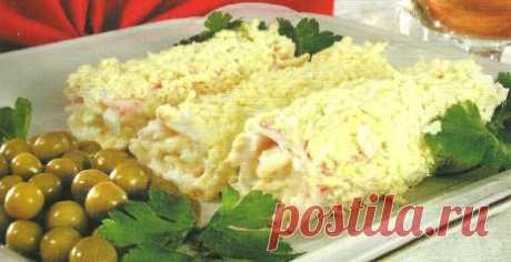 """Закуска """" Дивная""""   Сегодня крабовые палочки получили большую популярность за их необыкновенный вкус и доступную цену. Ни одно застолье не обходится без салатов, в состав которых входят крабовые палочки. Хочу предложит…"""