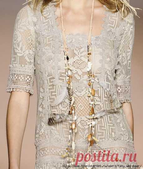 Филейные платья от Anna Sui spring 2011