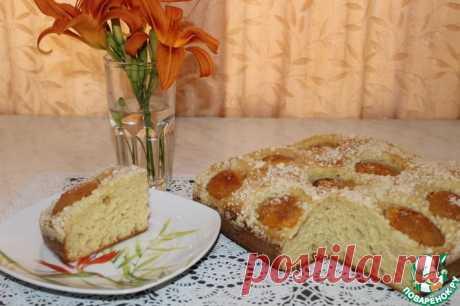 Дрожжевой пирог с абрикосами без замеса руками Кулинарный рецепт