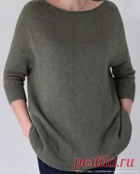ВЯЗАНИЕ ХЭЙВОРДА  Если вы еще не связали себе стильную вещь для весны - самое время это сделать.  Особенность этого пуловера - заниженная линия проймы и широкий низ. Этот пуловер смотрится прекрасно на разных типах фигур.   Вам понадобится   Пряжа - 500 г  Спицы - 3-4 мм  Маркеры для отметки количества петель   Инструкция  1  Измеряем окружность шеи - эта мерка снимается по ключицам, так так вырез у хейворда должен быть довольно широкий. Снимаем мерку по ключицам впереди, ...