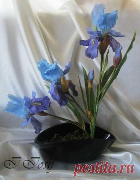 Цветы из шелка, как живые — Делаем руками