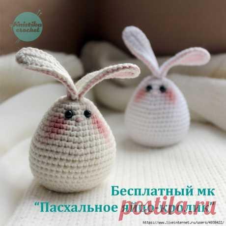 Пасхальное яйцо-кролик.