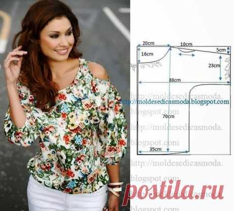 Шикарная летняя блузка - выкройка