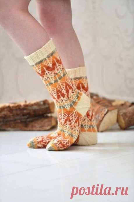 Жаккард для носков (Вязание спицами) – Журнал Вдохновение Рукодельницы