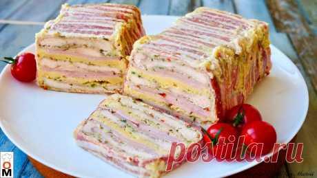 Интересная закуска на Новый год. Мясной хлеб   Ольга Матвей   Готовить Просто   Яндекс Дзен