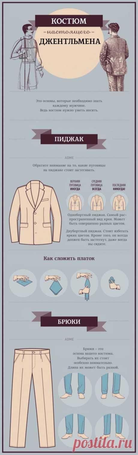 Костюм настоящего джентльмена. Пиджак и брюки