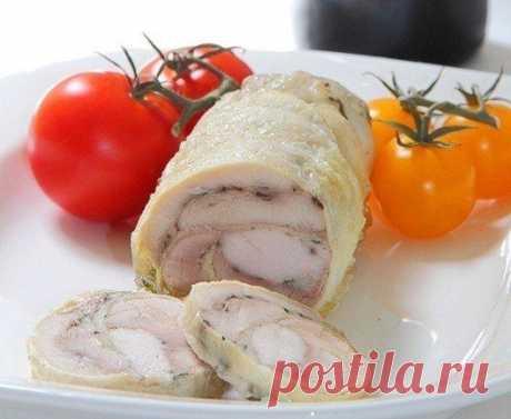 El panecillo tierno, casi dietético de gallina