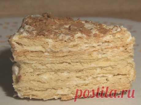 Торт «Наполеон» со сгущенкой - Кулинарик.ру