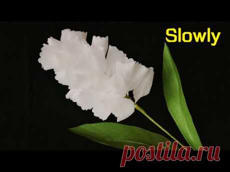 ABC TV | How To Make Tissue Paper Flower #1 (Slowly) - Craft Tutorial