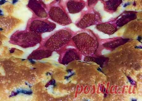 (8) Пирог летний с ягодой - пошаговый рецепт с фото. Автор рецепта Татьяна В . - Cookpad
