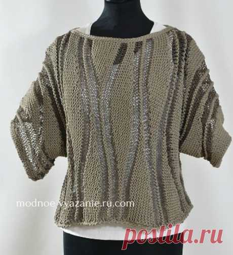 Изделия поворотными рядами в технике swing-knitting - Klubok - Modnoe Vyazanie.ru.com