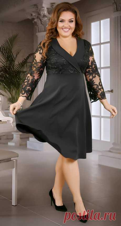 Расклешённое платье с красивой шёлковой вышивкой - Платье норма 42-48 - Модные вечерние платья: купить недорого у производителя в розницу, доставка по Украине | Lemanta.com