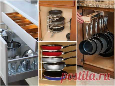 Как хранить посуду и продукты в небольшой кухне