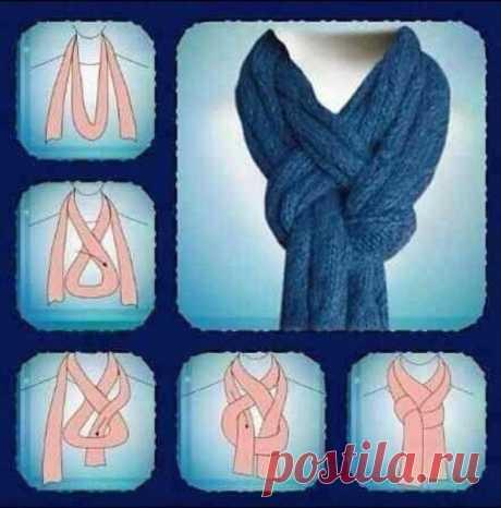 Интересный способ завязать шарф