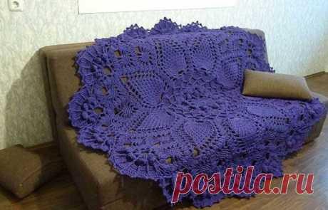 Симпатичный вязаный коврик - Эфария Вяжем коврик крючком.Схема вязания прилагается источник