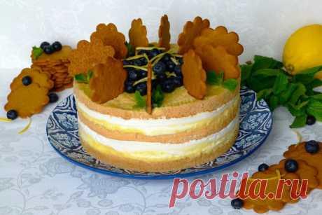 Ванильный торт с лимонным курдом и лимонным суфле рецепт с фото и видео - 1000.menu
