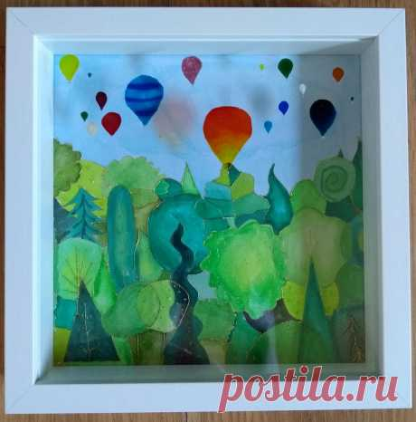 Colourful Hot Air Balloons over Leigh Woods Bristol Hand | Etsy