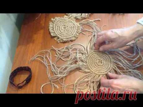(1) Плетение салфеточки по кругу. Окончание работы - YouTube
