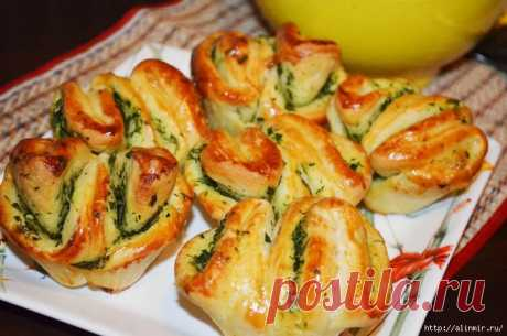 Ароматная вкуснятина «Булочки с чесноком и зеленью»