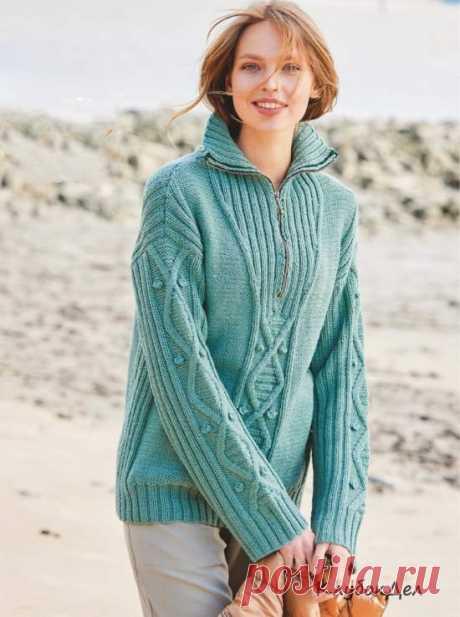 Пуловер с застежкой-молнией на воротнике