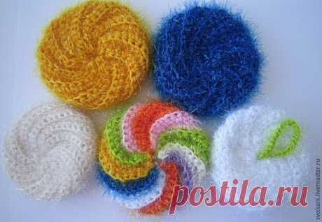 We knit a bast for washing of ware