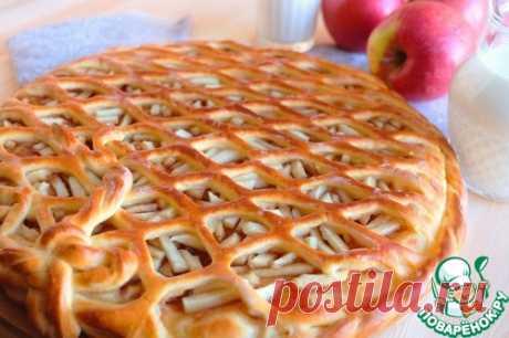 Пирог с яблоками и повидлом - кулинарный рецепт