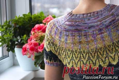 "Пуловер ""Лилу"" от Анжелики Коваль. https://www.youtube.com/watch?v=_pL287OEzFc"