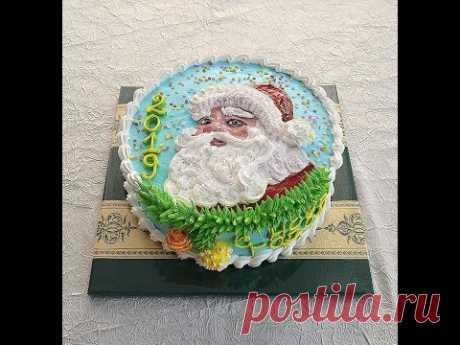 Кремовый торт на Новый год!