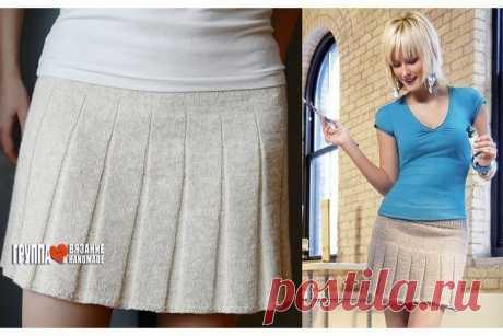Мини-юбка со складками.