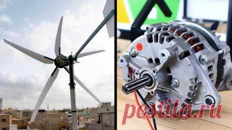 Как сделать ветрогенератор из автомобильного генератора без переделки Самым доступным готовым генератором для сборки ветрогенератора является автомобильный. Его можно купить почти даром на авторазборке. Проблема только в том, что он генерирует энергию только при возбуждении обмотки ротора. По этой причине изготовить из него полноценный ветрогенератор можно переделав