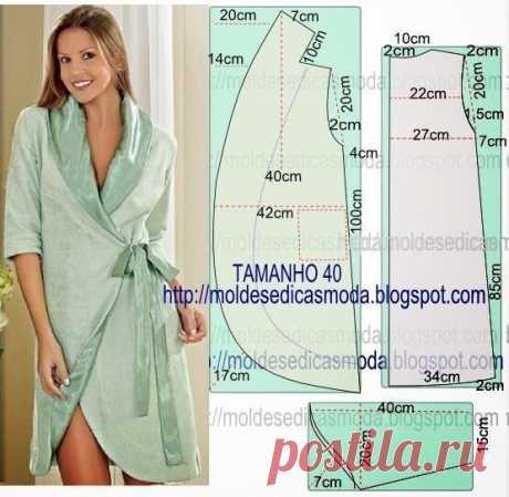 Выкройка халата Модная одежда и дизайн интерьера своими руками