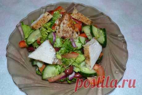Правильное питание: салат с куриным филе и овощами - вкусный и легкий ужин | Рецепты с фото | Яндекс Дзен