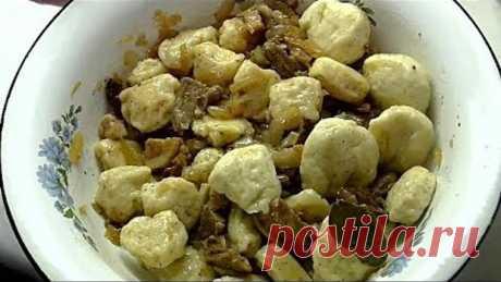 Полтавские галушки. Национальная украинская кухня.