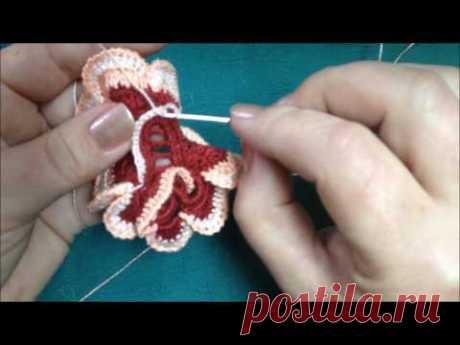 CROCHET IRLANDESVideo Nz15\/4rosa a crochetflores a crochet