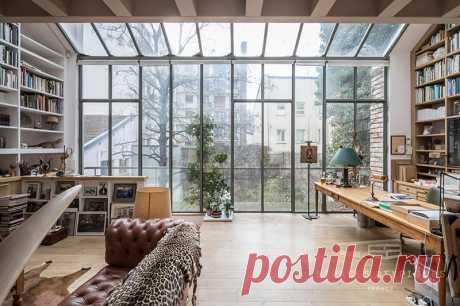 Удивительный лофт парижского архитектора   Роскошь и уют