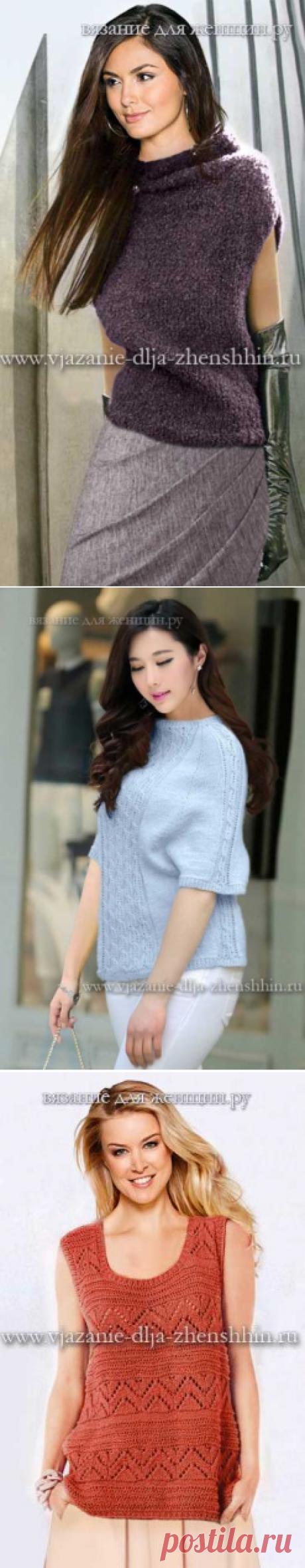 Модная модель вязания спицами для женщин