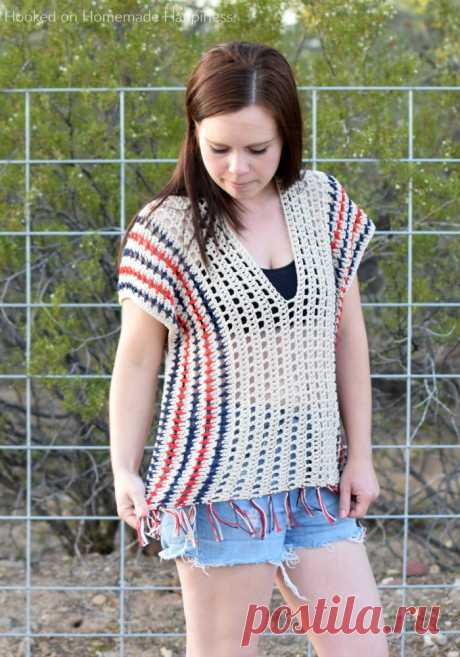 Picnic Poncho Crochet Pattern | Hooked on Homemade Happiness