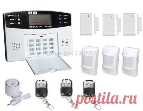 The GSM alarm system on remote control. It is equipped with the LCD screen. In case of alarm the alarm system will send you the SMS. Artificial intelligence. 7192 rub with free shipping.
