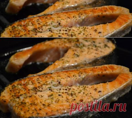 Стейк из горбуши на сковороде: как вкусно приготовить и сколько времени нужно жарить, чтобы не был сухим, рецепт с фото