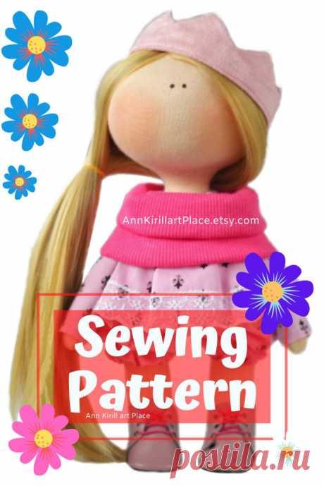 Interior Doll Tutorial Tilda Doll DIY Pattern Handmade Doll   Etsy