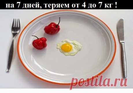 Как похудеть эффективно.: Диета на 7 дней, теряем от 4 до 7 кг !
