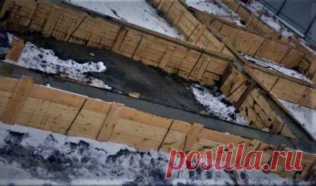 Строительство бетонного фундамента зимой. | Построить дом | Яндекс Дзен