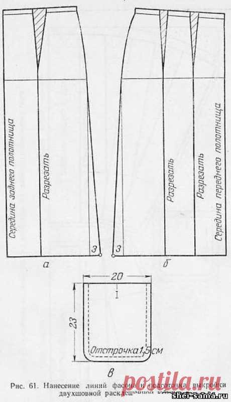 9)Юбка двухшовная расклешённая/Юбка со встречными складками и застёжкой/Юбка в складку - Женское и детское платье - Всё о шитье