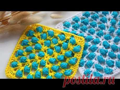 Такого вы еще НЕ ВИДЕЛИ! НЕОБЫЧНЫЙ бабушкин КВАДРАТ КРЮЧКОМ! How to Crochet Beautiful Granny Square