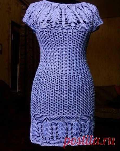 Симпатичное платье крючком