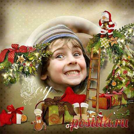 Прекрасный новогодний скрап-комплект - Самое замечательное время » ШКОЛА ПЛЮС