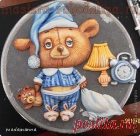 Мастер-класс по лепке из соленого теста: Картина Медвежонок