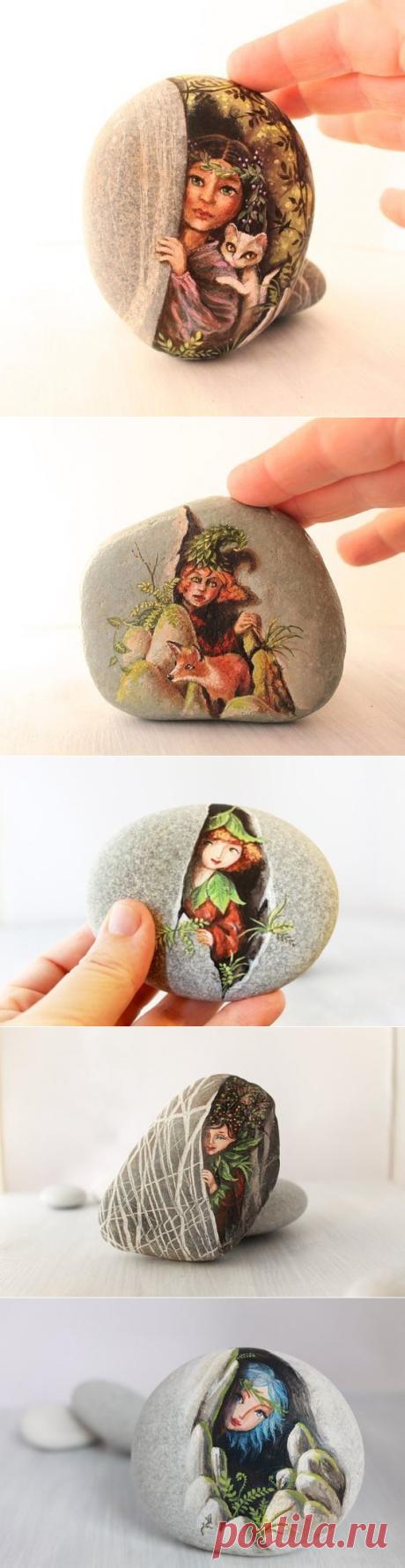 Идеи потрясающей росписи камней